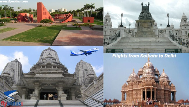 Flights from Kolkata to Delhi