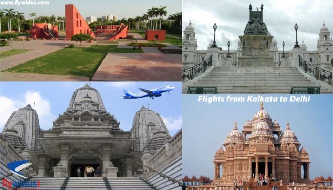 Flights from Kolkata to Delhi