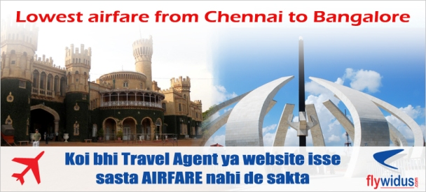Flights from Chennai to Bangalore